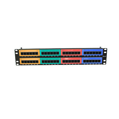 48 Ports Cat6 Distribution Frame Wallmount Patch Panel Ethernet Cable Ports