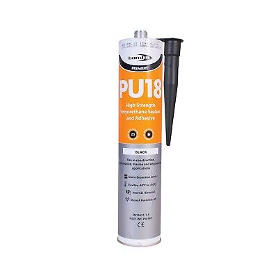Black High Strengh Polyurethane Adhesive & Sealant Pu18 Marine Koi Fish Pond