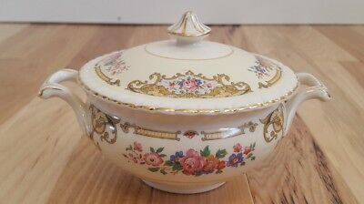 "Vintage Johnson Brothers -OLD ENGLISH"" Ironstone Sugar Bowl England"