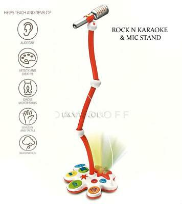 Br New Kids Karaoke And Microphone Stand Children Rocking Music Mic Play Toy AU