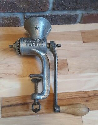 Vintage Sweden Husqvarna No 2 Scandia Cast Iron Meat Grinder