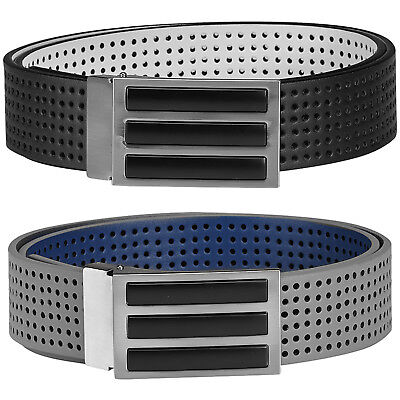 Adidas Golf 2018 Mens Reversible 3-Stripes Perforated Leather Belt