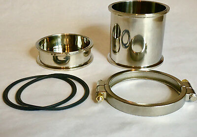"6"" Stainless Steel Splatter Platter Conversion Kit Closed Loop Extractor Shatter"