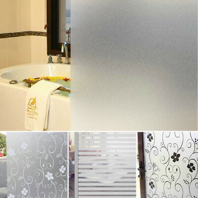 Bedroom Bathroom Home Glass Window Door Privacy Film Sticker PVC Frosted  Decor