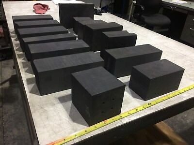 EDM GRAPHITE LOT OF ASSORTED BLOCKS for Machining, Molten metal mold. 50 POUNDS