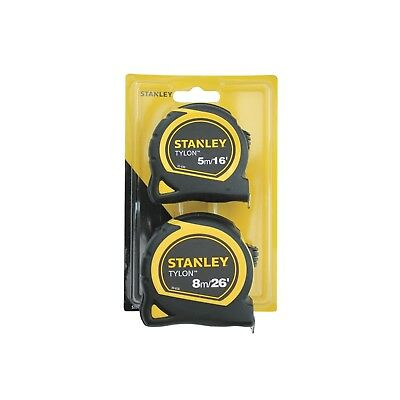 Stanley Tools Tylon Pocket Tapes Twin Pack 5m/16ft  8m/26ft