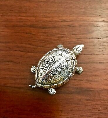 Vintage Buccellati Italy Sterling Silver Turtle Trinket Box: Excellent Condition