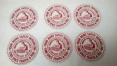 1950's Vtg AT&T Logo Red & White Drink Coasters Set Of 6 Vintage Advertisement