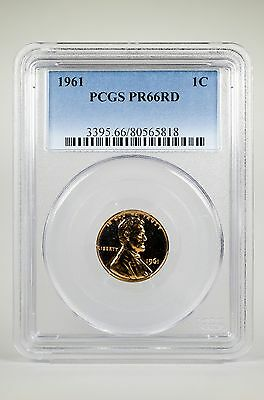 Pr66Rd 1961 Red Lincoln Penny Pcgs Graded 1C Proof Coin Liberty Us Pr66 One Cent