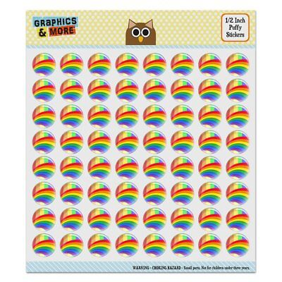 Double Rainbow Pride Arc Puffy Bubble Dome Scrapbooking Crafting Sticker Set