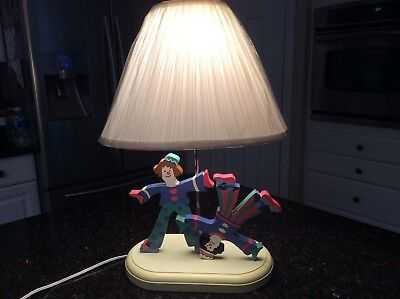 Baby Nursery/Children's lamp wooden,Great condition! NEW SHADE!