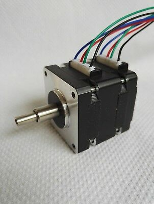 Stepper motor dual hollow combined shaft for analogue clock or similar app