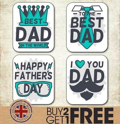 24x 40x35mm Happy Father's Day Stickers/Cards/Shop Best Dad/Daddy/Tags