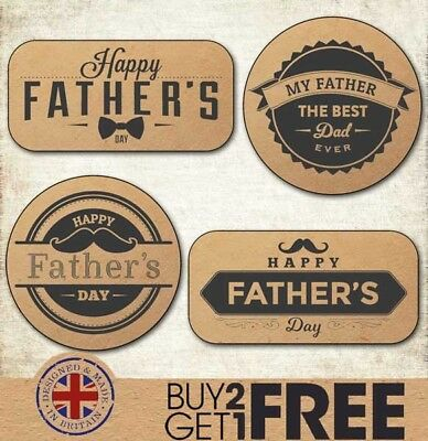 Happy Father's Day Kraft/Craft Stickers/Cards/Shop Best Dad/Daddy/Tags