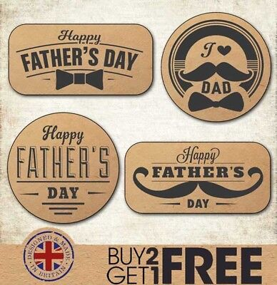 Happy Father's Day Kraft/Craft Stickers/Cards/Shop Best Dad/Daddy/Labels