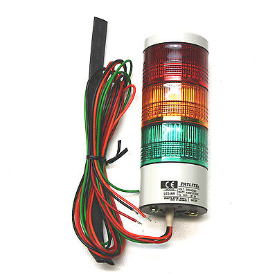 Patlite NEW In Box Red Yellow Green LED Signal Light LES302AWRYG LES-302AW-RYG