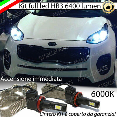 Kit Full Led Hb3 Kia Sportage Ql 6000K Bianco Canbus 6400 Lumen No Avaria