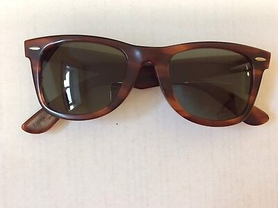 Vintage Ray Ban Bausch And Lomb Wayfarer Sunglasses Tortoise Made In USA