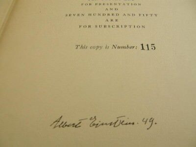 Albert Einstein'S One And Only Intellectual Biography: Signed By Albert Einstein