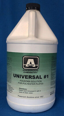 Allied Universal #1 Fountain Solution For Polyester Plates 1 Gallon