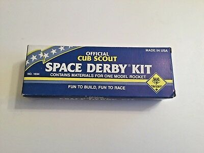 Boy Scouts Official Cub Scout Space Derby Kit No. 1694 Model Rocket Vintage 1980