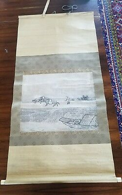Antique Chinese/Japanese Scroll Painting 18th / 17th C. Ming or Edo