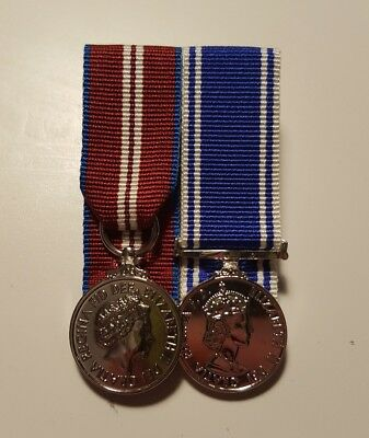 Queens Diamond Jubilee and Police Service LS&GC Miniature Medal Court Mounted