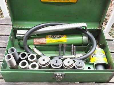 Greenlee Hydraulic Knockout Punch Set 7646  767A Good Condition
