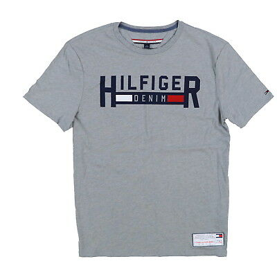 32af2b8e8ea Tommy Hilfiger Mens T-shirt Crew Neck Graphic Tee Short Sleeve Flag Logo  Casual