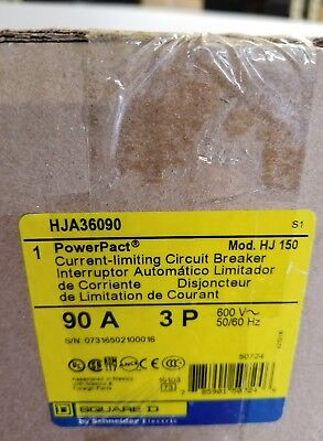 SQUARE D HJA36090 PowerPact H I-LINE 90A 3P CIRCUIT BREAKER 90 AMP 3 POLE new