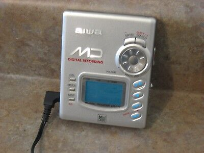 Aiwa Portable Md Walkman Mini Disc Digital Recorder Player Am-F70