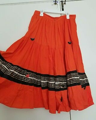 lot 2 patio skirts vintage halloween orange brown 50s as is super full job lot