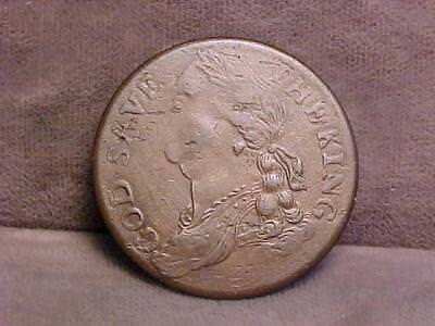 U.S. Colonial Regal Evasion 1/2 Penny God Save King Coin 1772