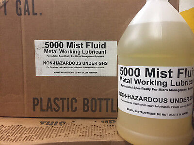 5000 MIST FLUID METAL WORKING Metalworking Lubricant 1 GALLON CUTTING LUBE