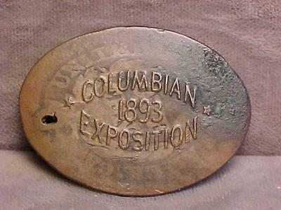 Elongated U.S. Large Cent ca 1850's Columbian Exposition 1893