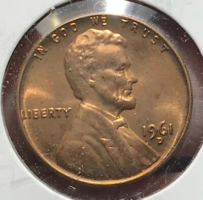 1961-D Lincoln Memorial Cent Bu. Collector Coin For Your Set Or Collection.