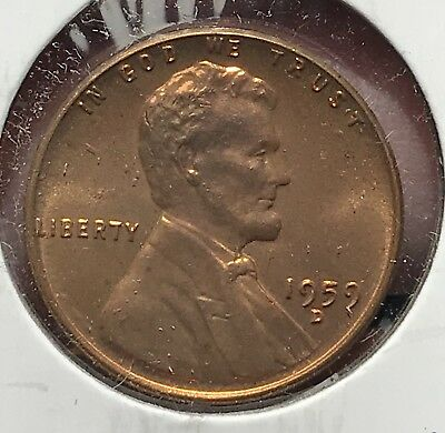 1959-D Bu Lincoln Memorial Cent. Brilliant Uncirculated Collector Coin