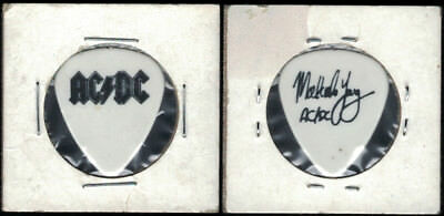 AC/DC AUTHENTIC MALCOLM YOUNG 1991 Razors Edge Band GUITAR PICK--VERY RARE!