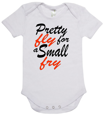 Baby romper suit one piece new short sleeve cotton Pretty Fly For a Small Fry