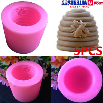 5Pcs 3D Silicone Screw Hive Bee Fondant Soap Candle Mould Handmade Sugarcraft