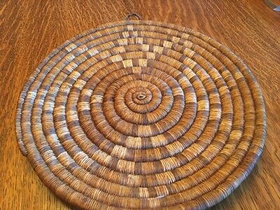 Large Coiled Indian Plaque