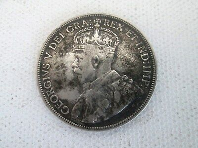 1911 (Half Dollar) 50 Cents New Foundland King George V 925 Sterling Silver Coin