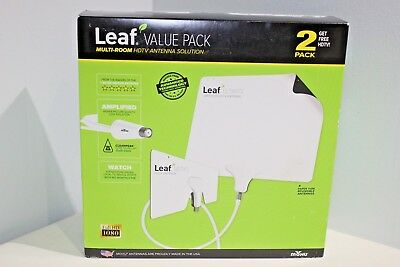 Mohu Leaf Amplified Multi-Room Paper Thin HDTV Antenna Solution Value Pack NIB