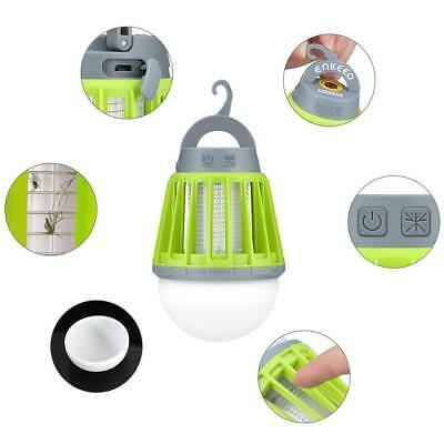 Camping Lantern Electric Mosquito Fly Bug Insect Trap Night Lamp Killer Zapper