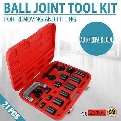 21PCS Ball Joint Adapter Set Remover Installing Tool Kit Tube Cup Strict