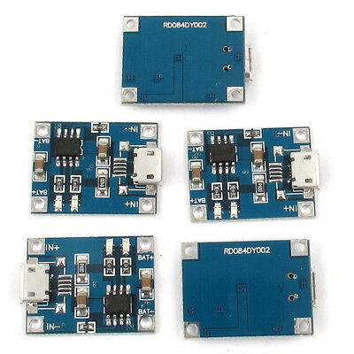 Micro-USB 1A Li-Ion 18650 Lithium Battery Charger Charging TP4056 Module Board
