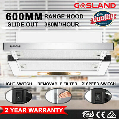 GASLAND chef 60cm Rangehood 600mm Stainless Steel Commercial Home Kitchen Canopy