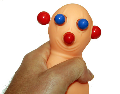 Martian Popping Thing Panic Pete Stress Reliever Squeeze Toy