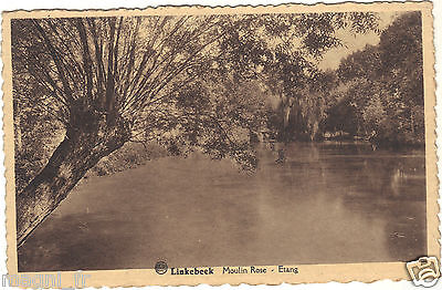 Belgique - cpa - LINKEBEEK - Moulin Rose - Etang ( i 5844)