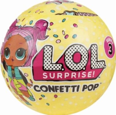 LOL SURPRISE! Genuine Confetti Pop Big Sister Doll/Tot Series 3 New Free UK P&P!